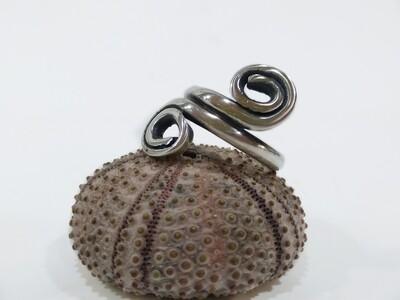 Twin spiral siler 925 ring