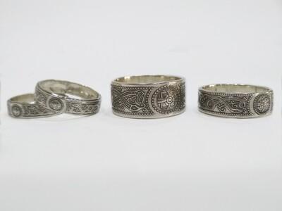 Sterling silver Celtic rings