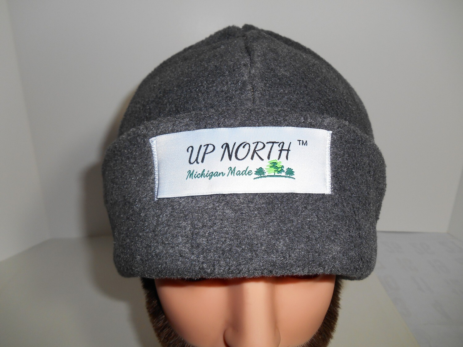 Solid Grey Winter Hat with Face Cover