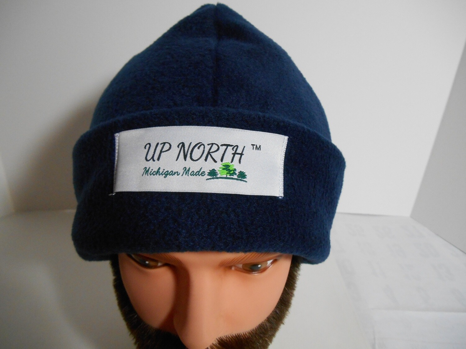 Solid Navy Blue Winter Hat with Face Cover