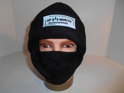Black Winter Hat with Face Cover