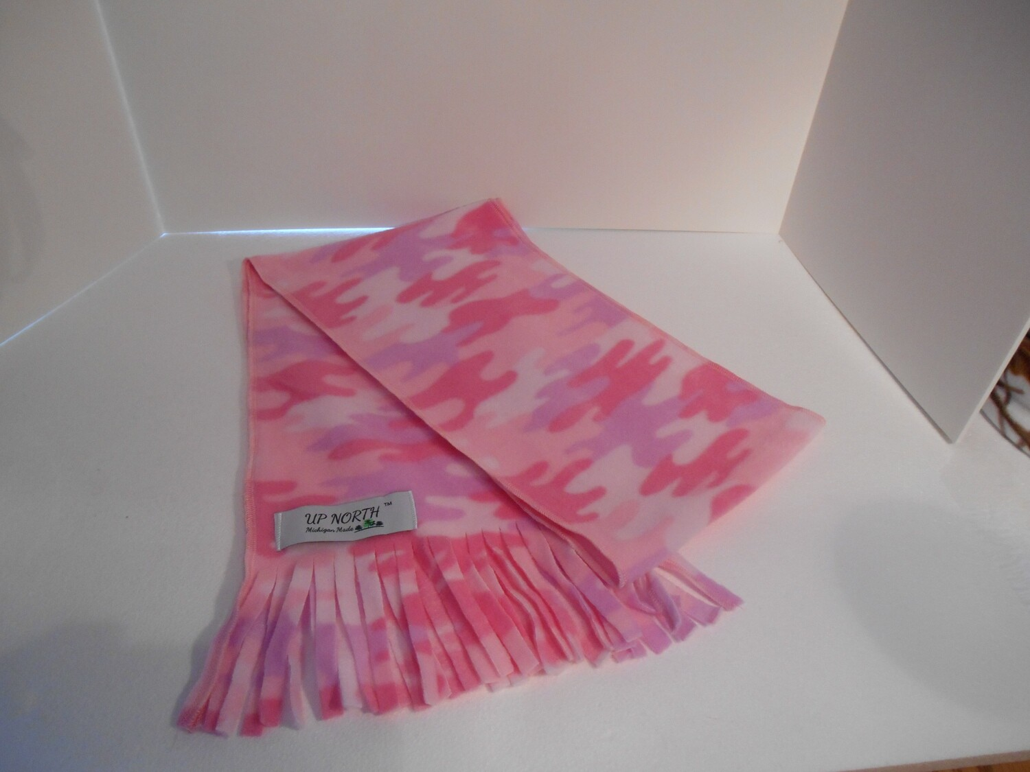 Pink Camouflage Winter Scarf