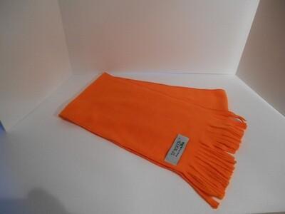 Solid Orange Winter Scarf