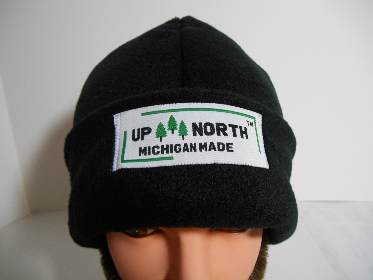 Solid Black Winter Hat with Face Cover