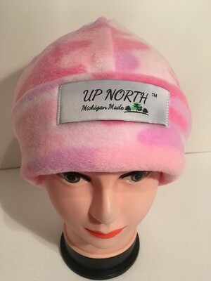 Pink Camouflage Winter Hat with Face Cover