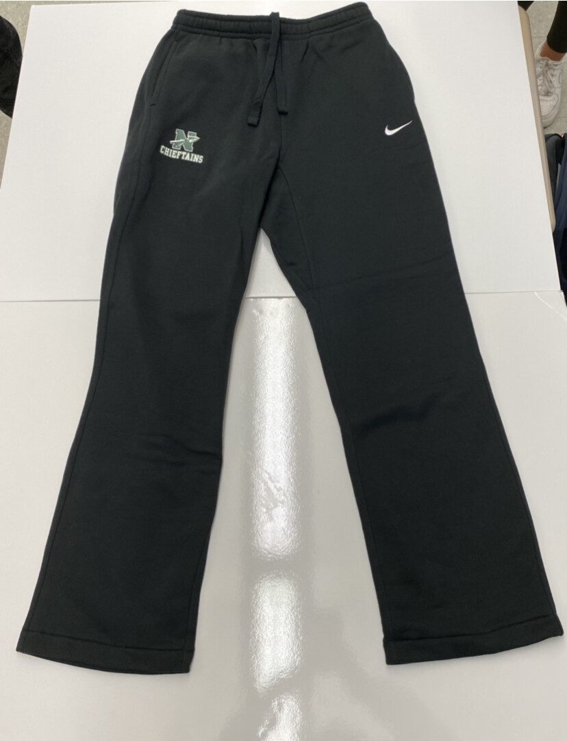 Black Nike Sweatpants with Green Lettering