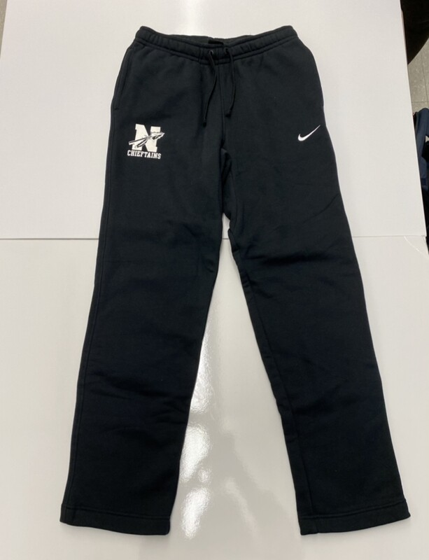 Black Nike Sweatpants with White Lettering