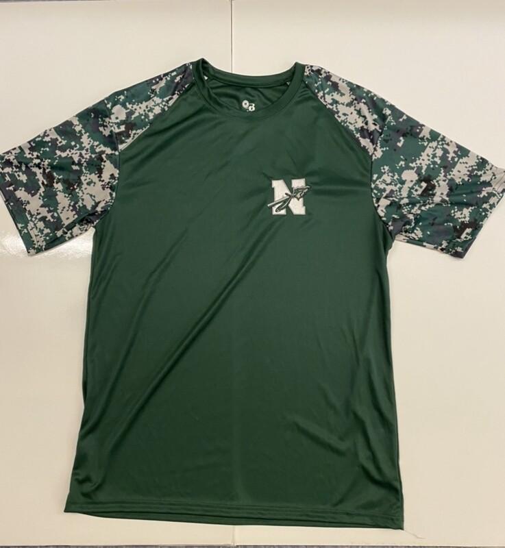 Dri Fit Camo Sleeved T-Shirt