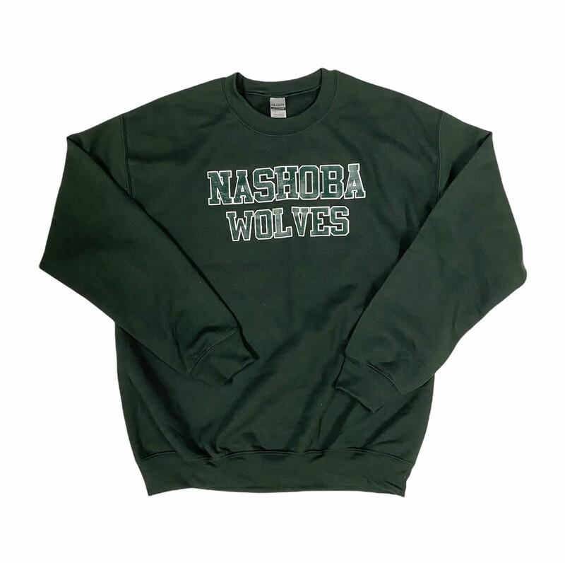 Green Nashoba Wolves Crewneck