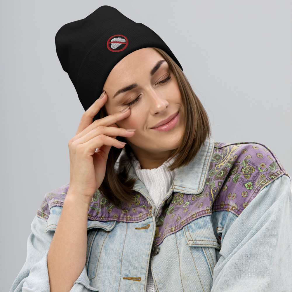 Clouds Prohibited Embroidered Beanie