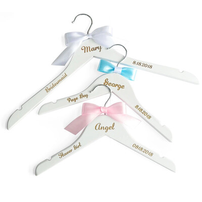 Personalized Wedding Hanger,Engraved Wedding Clothes Hanger, Dress Hanger,Name Bridal Party Gifts, Bridesmaid Hanger Laser Cut