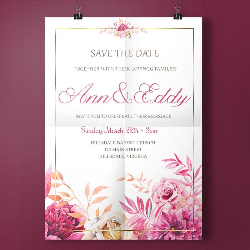 Digital file script Wedding Invitation Wedding