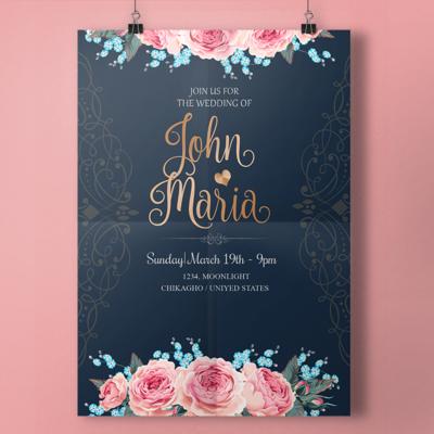 Digital file Royal Wedding Invitation With Script Wedding