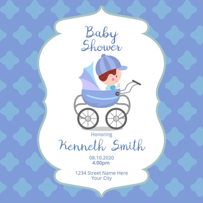 Digital file Baby Shower Greeting Card
