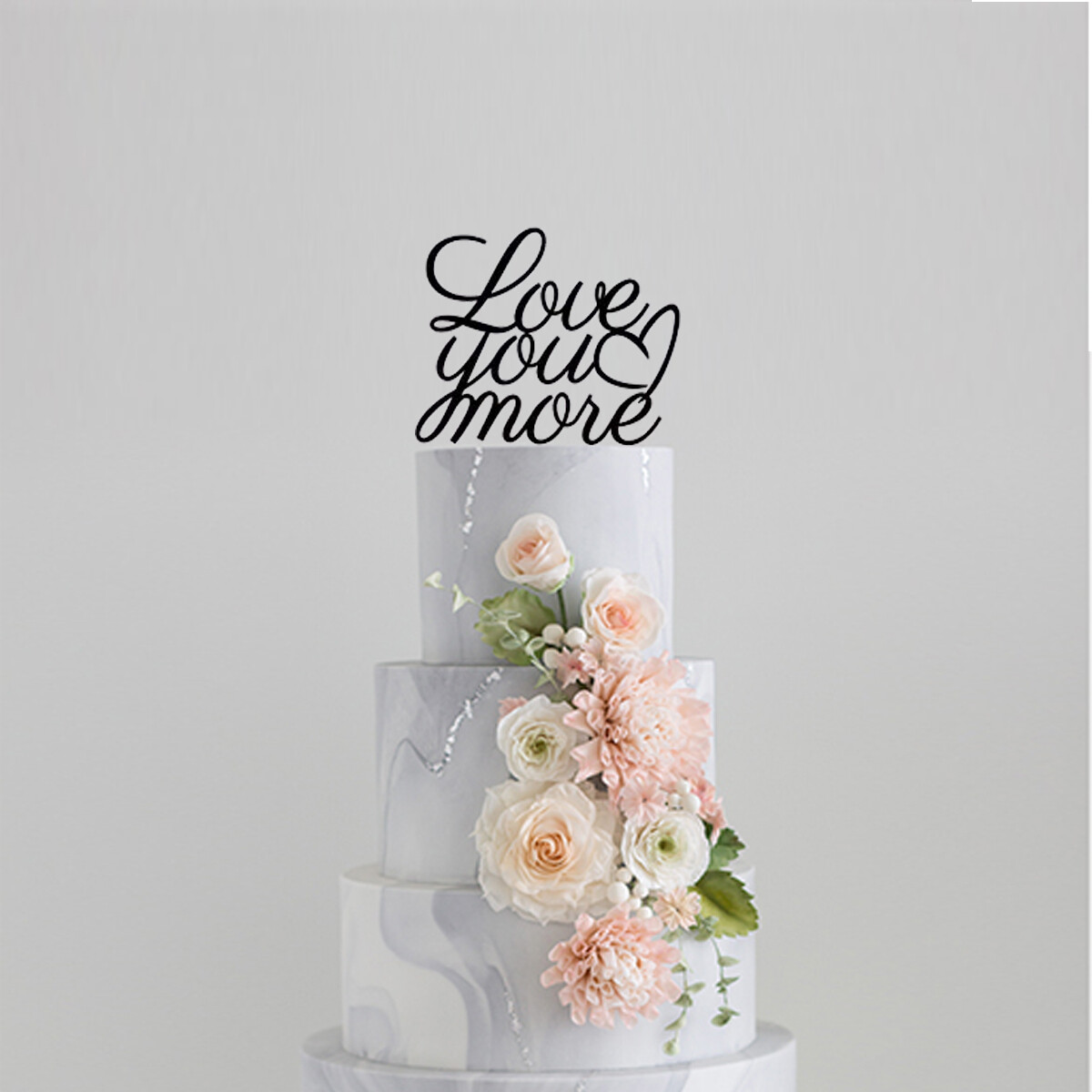 Love You More Cake Topper