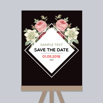 Digital File Save The Date Watercolor Flowers