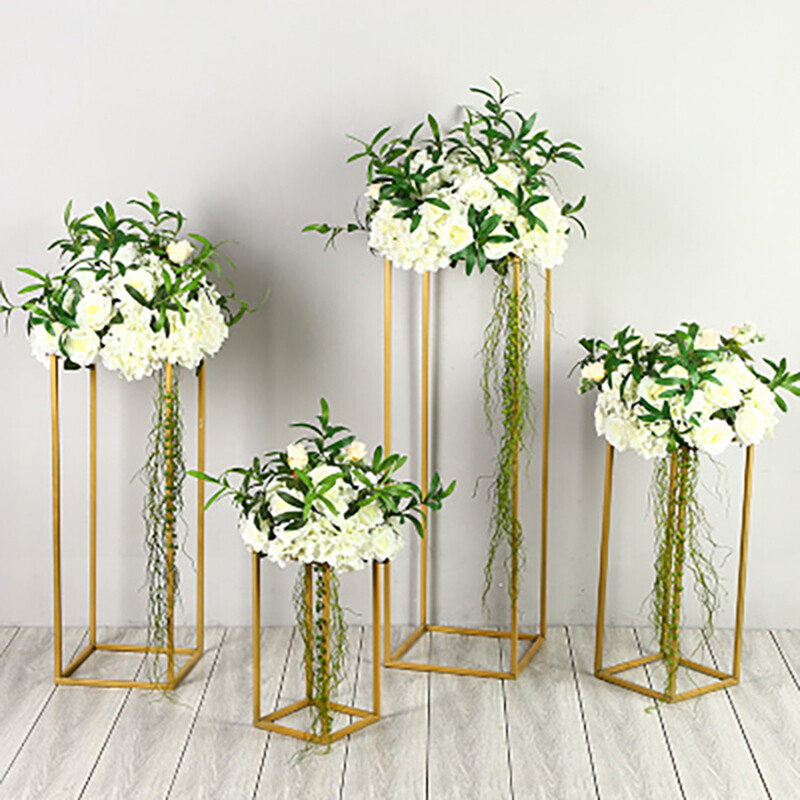 Metal Frame for Wedding Road Lead Stand Flower Shelf Racks Geometric Decorative Props Party Background Stage Decoration