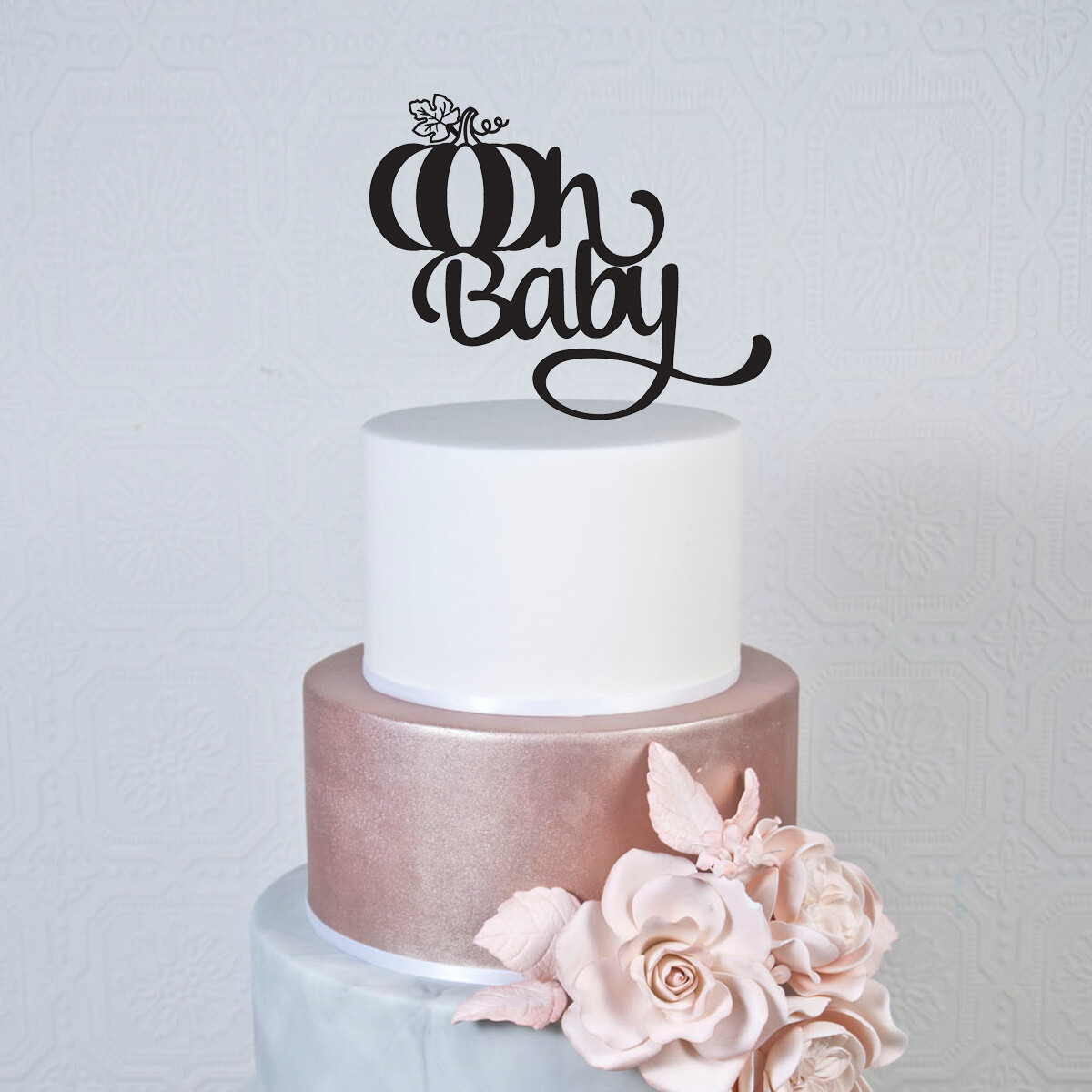 Oh Baby pumpkin Cake Topper
