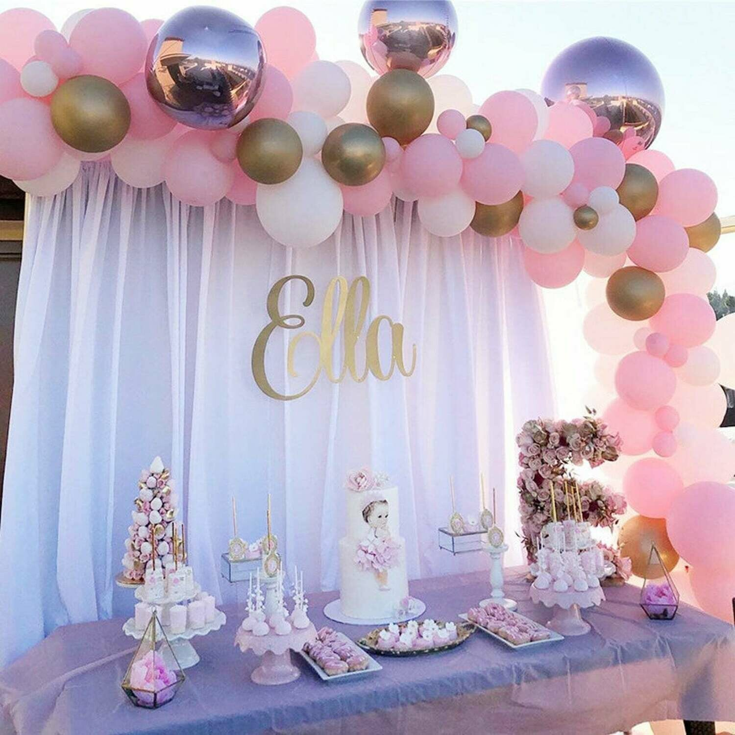 131pcs Pastel Baby Pink Latex Balloons Macaron White Balloon Garland Arch Kit Wedding Birthday Baby Shower Party Decorations