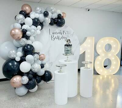 125pcs Black White Grey Balloons Garland Arch Kit 4D Rose Gold Ballon Birthday Wedding Baby Shower Anniversary Party Decorations