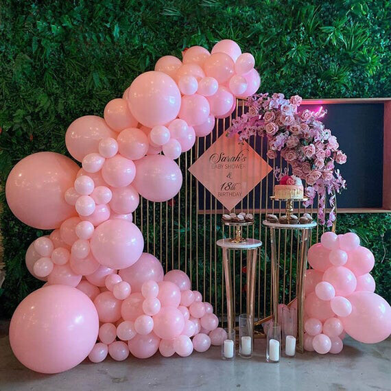 92pcs Macaron Pink Pastel Balloons Garland Arch Kit For Women Wedding Engagement Birthday Party Decoration Ballon Baby Shower