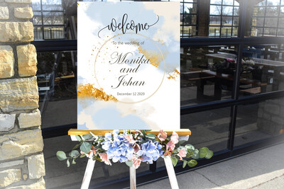 Digital File Elegant Creative Wedding welcome sign