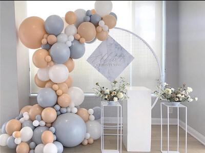 151pcs/Set DIY Balloon Garland Blue Macaron White Latex Gold Confetti Navy Blue Mixed Wedding Birthday Baby Shower Party Decor