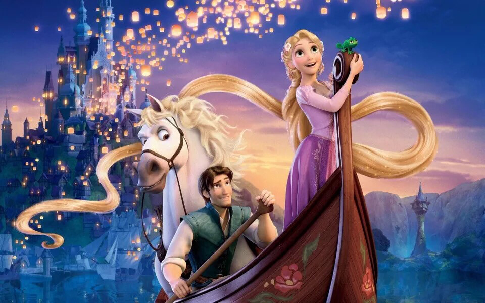 Tangled Rapunzel Princess Boat Horse Sparkles Castle Palace Backdrop Girls Birthday Party Backgrounds