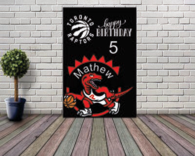 Toronto Raptors Backdrop  Happy Birthday