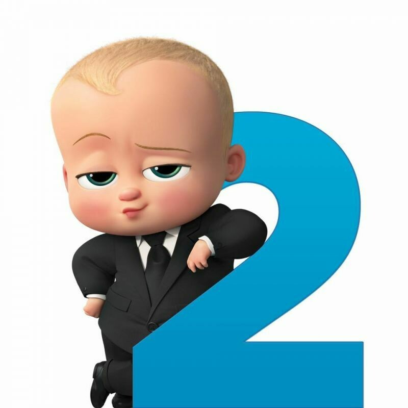 Die cut Baby boss  character for boy's Birthday Party Themes Baby boss