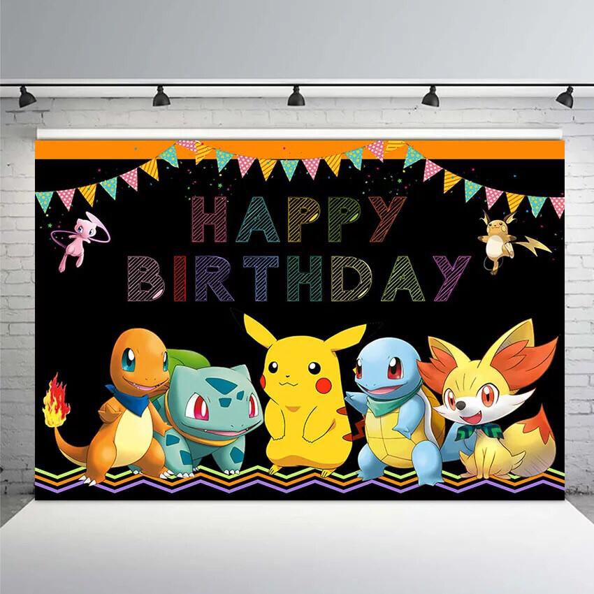 Background Photography Pokemons Birthday Photography Backdrop Boys Photo Background