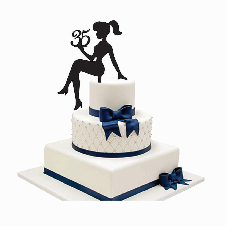 SITTING GIRL SILHOUETTE Custom Cake Topper