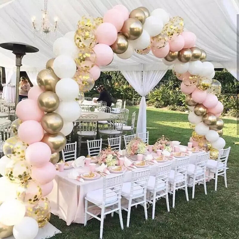 Pink Color Macaron Balloons Birthday Party Pastel Ballons Decor Birthday Baby Shower boys Girls
