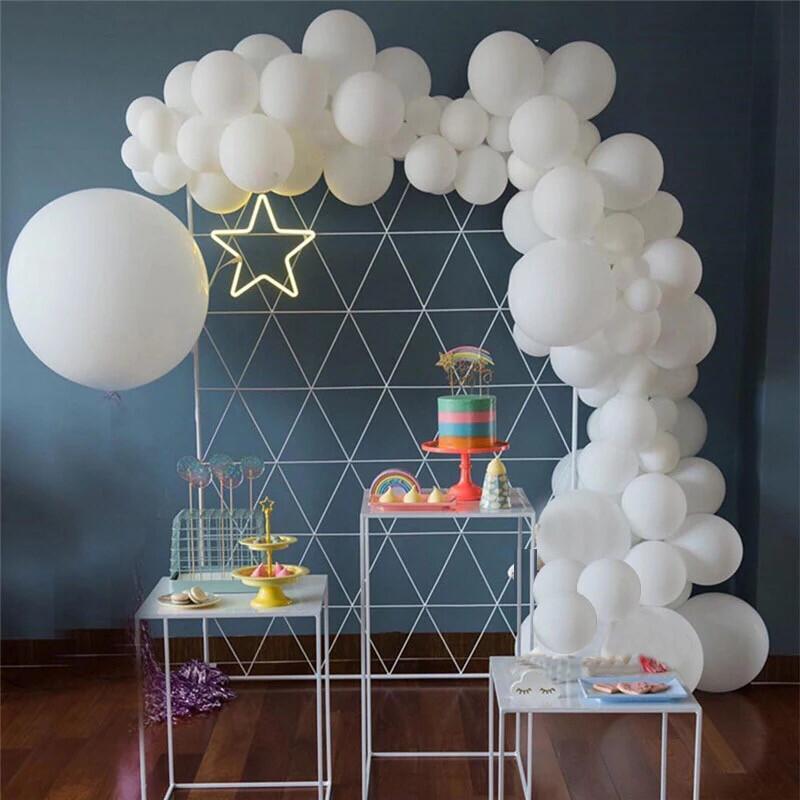 Macaron White Balloons Arch Garland adult 30st Happy Birthday Party Decorations 1st Round Globos Babyshower