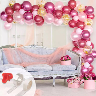 Pink Balloon Garland Arch Balloon Arch for Baby Shower Bridal Girls Birthday Wedding Party Decorations