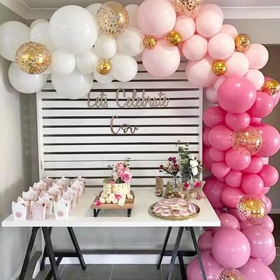 Pink Purple Macaron Balloons Blanc Happy Birthday Baloons Wedding Decoration Kids Pastel Balloons Baby Shower Girl Party