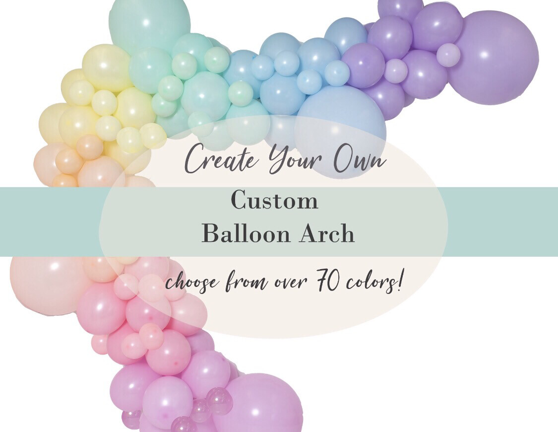 DIY Custom Balloon Garland Arch : Choose from 70 colors | Baby Showers, Birthdays, Weddings