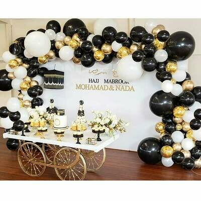 Black White Gold Latex Balloons , Kids Birthday Balloon Arch,Craft Supplies & Party ,Wedding Balloon Kit,Party Balloon Decoration