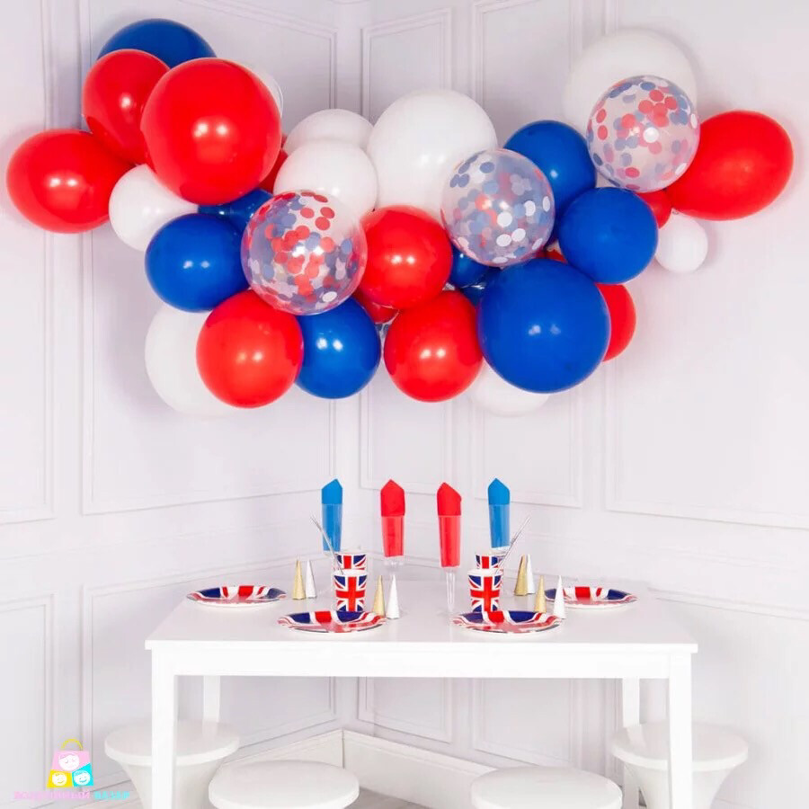 31pcs/lot 10inch Red Blue White Balloon Arch Kit Blue Garland Balloons Baby Shower Supplies Boy Birthday Party Decor