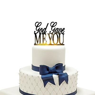 Personalised God Bless Cake Topper,Christening Communion cake topper