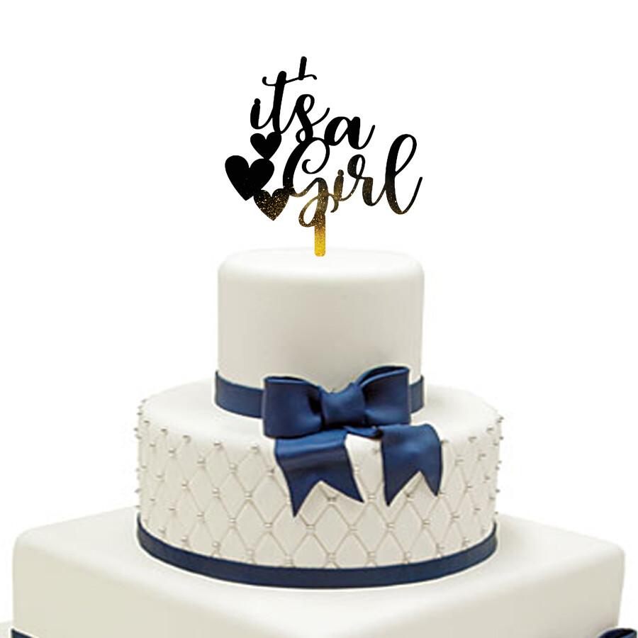 It is a girl Cake Topper