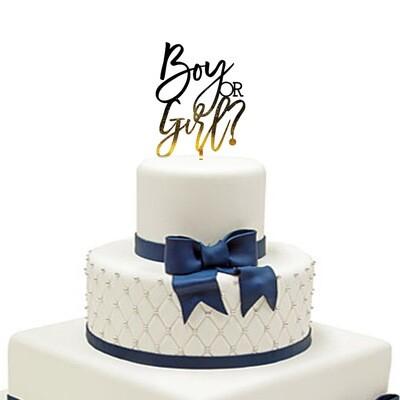 Girl or boy Cake Topper