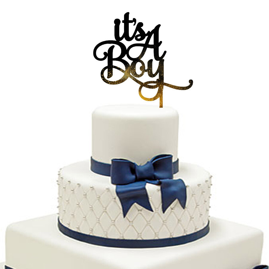 It is a Boy Cake Topper