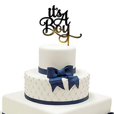 It is a Boy Cake Topper
