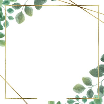 Green Simple Eucalyptus Leaf Border