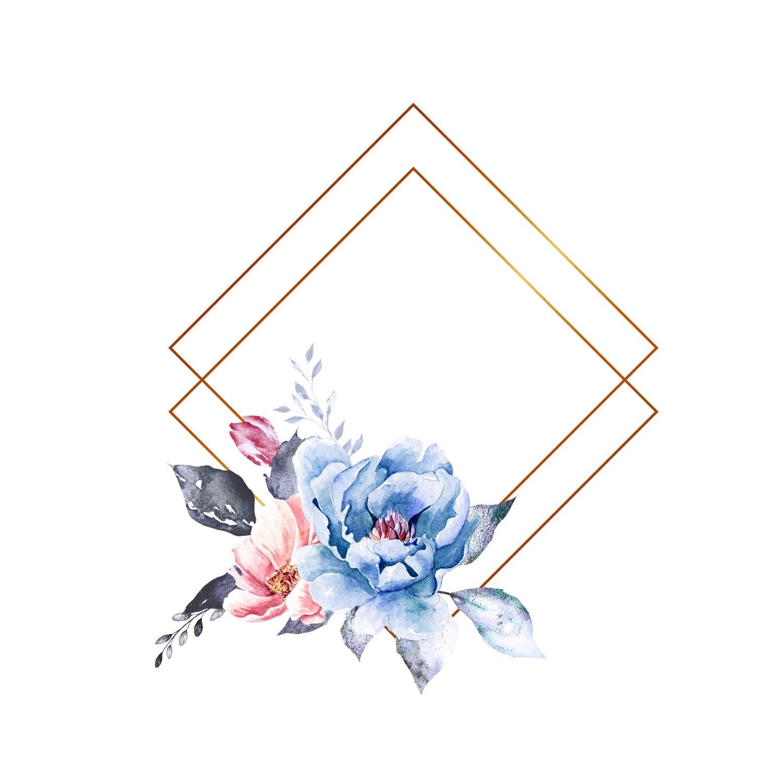 Beautiful Hand Paint Watercolor Rose Flower