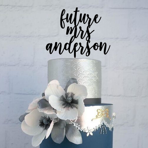 Personalized Wedding Cake Topper | Wedding Topper | Bridal Shower Topper | Wreath Topper | Script Cake Topper | Wedding Cake Topper