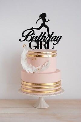 Runner Birthday Girl Cake Topper, Cross Country, Keepsake, Birthday Gift For Runner, Mother's Day Gift, Best Runner, Runner Life Style