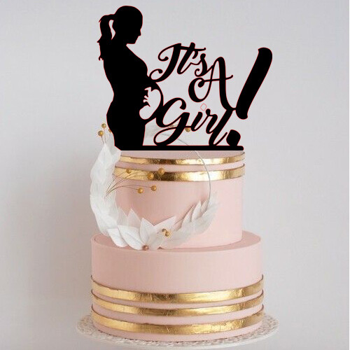 A digital file its a girl cake topper