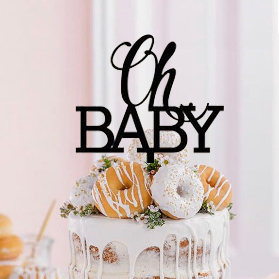 Oh baby Cake Topper - Reveal Cake topper